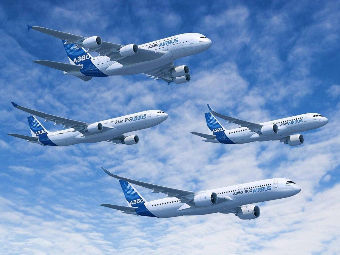 Relatórios da Airbus registram pedidos e entregas de setembro