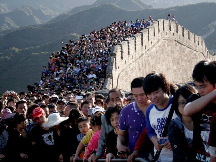 فقط در چین: تقریباً 800 میلیون سفر گردشگری داخلی در تعطیلات روز ملی