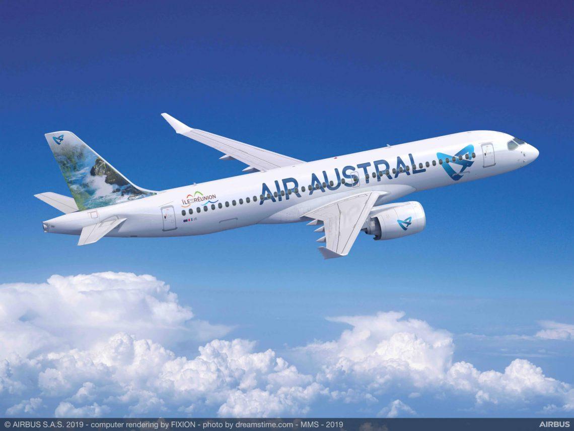 Re Austral basearre Air Austral wurdt earste A220-kliïnt yn 'e Yndyske Oseaan