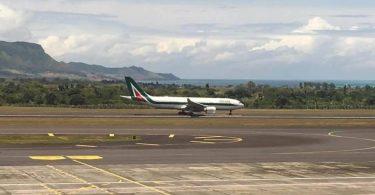 Omarjee Aviation with Alitalia in Mauritius