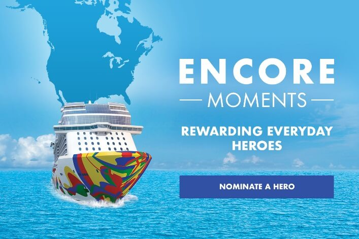 Norwegian Cruise Line zahajuje Encore Moments, aby odměnil každodenní hrdiny