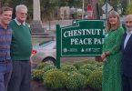 IIPT Peace Park dedikeret i Chestnut Hill