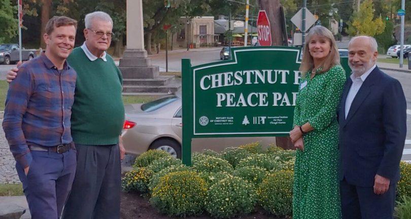 Parc de la paix IIPT dédié à Chestnut Hill