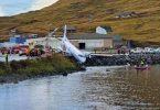 باند واژگونی هواپیمای خطوط هوایی آلاسکا: 2 نفر به شدت مصدوم شدند