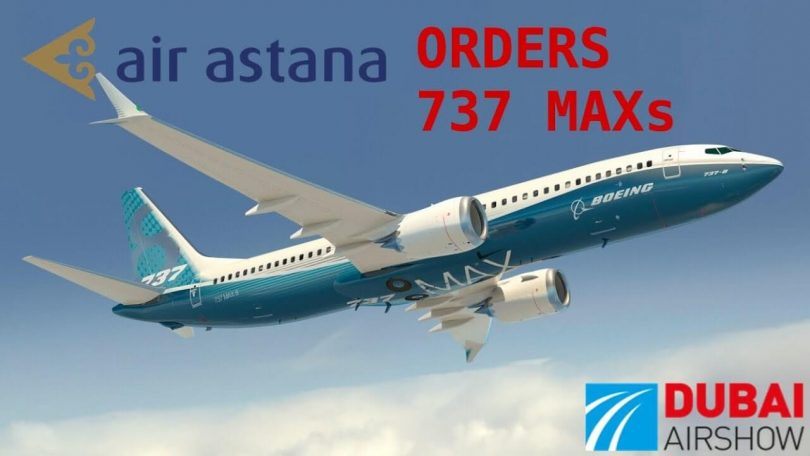 Air Astana oznamuje záměr koupit 30 trysek Boeing 737 MAX