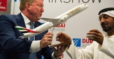 طيران الإمارات طلبت 30 طائرة بوينج 787-9 دريملاينر في صفقة قيمتها 8.8 مليار دولار