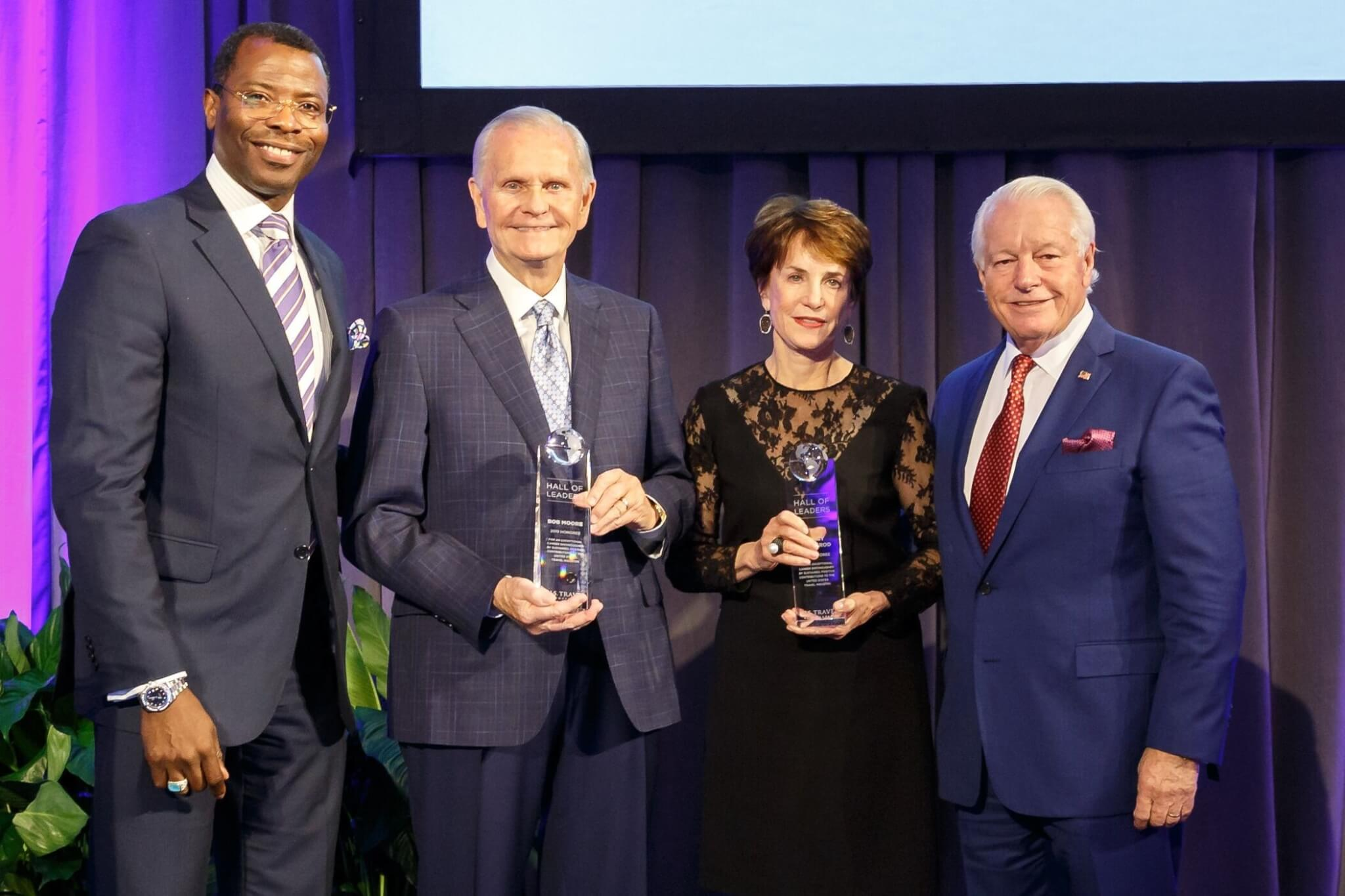 Bob Moore and Nancy Novogrod inducted into U.S. Travel Hall of Leaders
