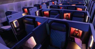 Delta Air Lines rakentaa uudistetut sisätilat tärkeimmillä reiteillä