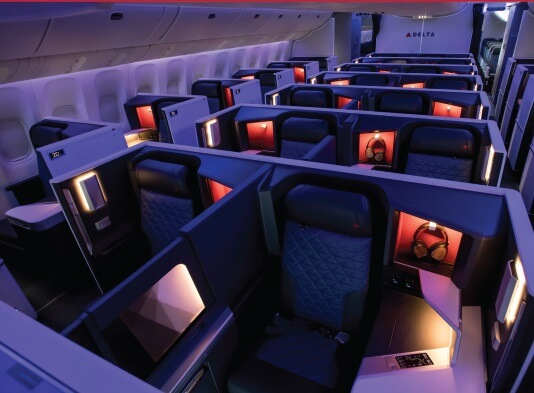 Delta Air Lines rolls out remodeled interiors on key routes