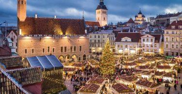 Tallinn, Estonia no fitsangatsanganana Krismasy eropeana be indrindra any UK