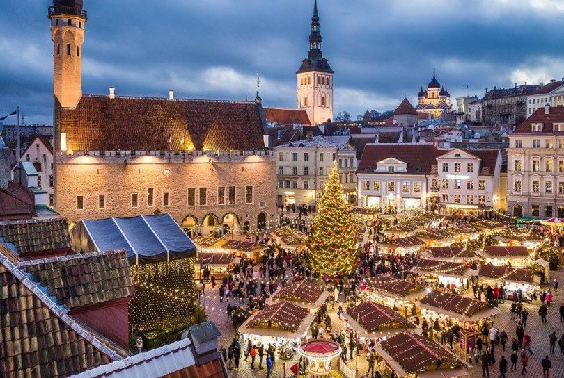 Tallinn, Estonia minangka tujuan plancongan Natal Natal sing paling populer ing Inggris