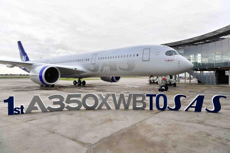 شركة SAS الإسكندنافية تتسلم أول طائرة إيرباص A350 XWB