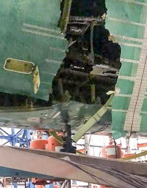 Boeing says it was just 'an issue', but reports say 777X test 'left plane's skin torn open'