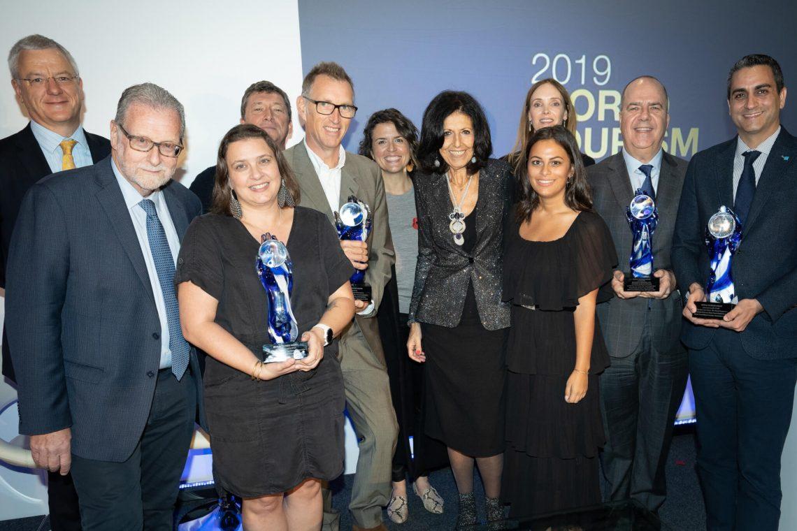 World Tourism Awards 2019 apresentado a Matthew D. Upchurch da Virtuoso, Asilia Africa, Nikoi Island / The Island Foundation e Me to We