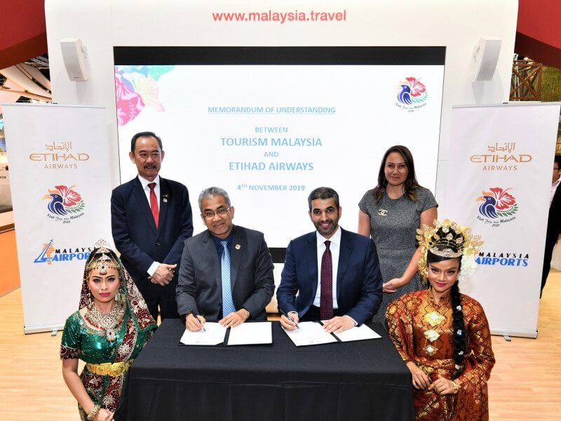 Etihad Airways and Tourism Malaysia си партнира, за да привлече посетители в Малайзия