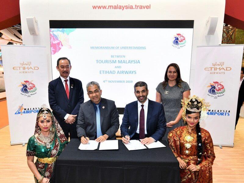 मलेशिया जाने वाले पर्यटकों को आकर्षित करने के लिए एतिहाद एयरवेज और पर्यटन मलेशिया भागीदार