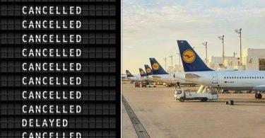 Lufthansa taler med fagforeninger som strejkeplads 1,300 flyvninger