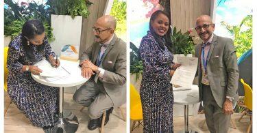 Rada pro seychelskou turistiku podepisuje dohodu s leteckou společností přepravující britské vlajky v Londýně