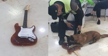 Guitarra totalment feta de cocaïna interceptada a l'aeroport de Cancún