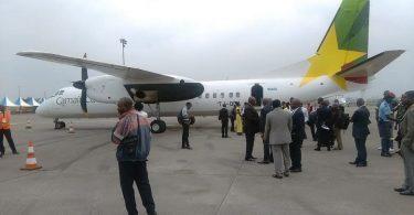 هواپیمای شرکت هواپیمایی کامرون هنگام فرود در فرودگاه بماندا حمله کرد