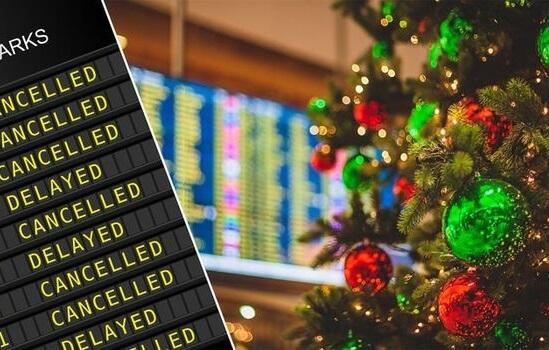 أسوأ أيام وطرق الطيران خلال فترة عيد الميلاد