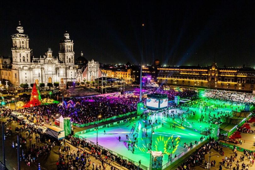 World's largest eco-skating rink opens in Mexico City