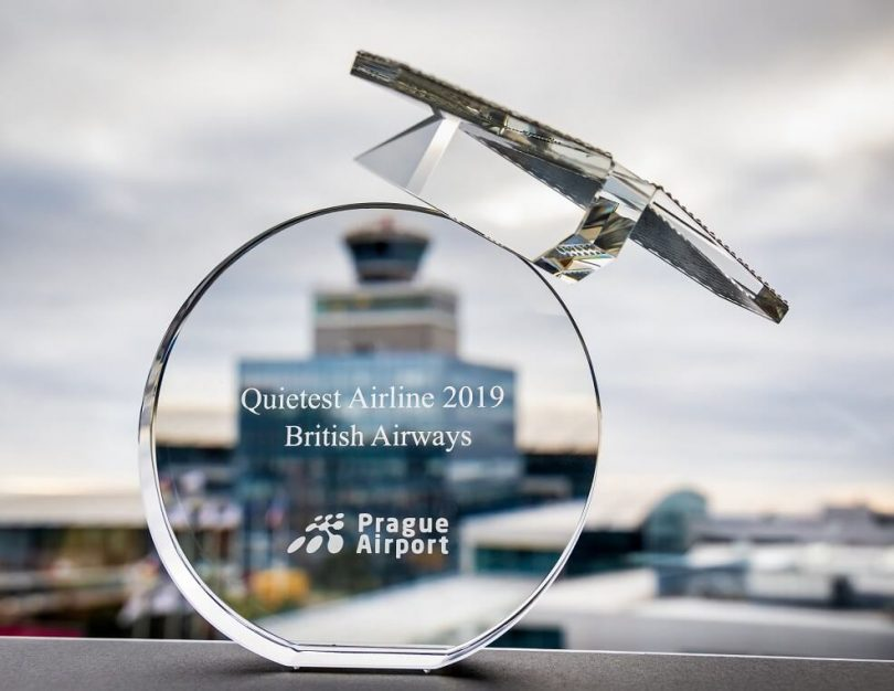 Ua faaigoa e Prague British Airways le QUIETEST AIRLINE