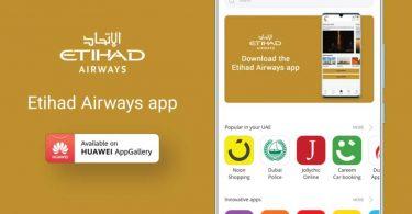 Etihad Airways lanseeraa Huawei AppGallery -sovelluksen