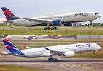 """""""Delta Air Lines"""" ir LATAM pradės bendrąjį kodų platinimą Kolumbijoje, Ekvadore ir Peru"""