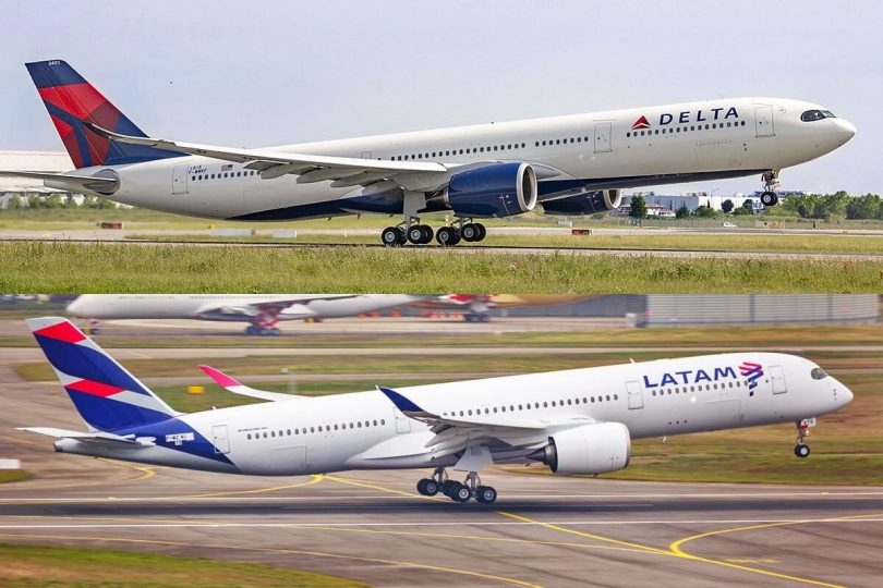 Delta Air Lines sy LATAM handefa codeshare any Kolombia, Ekoatera ary Peroa