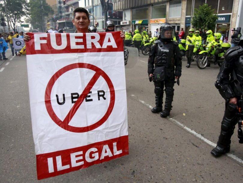 コロンビアはユーバーを禁止します