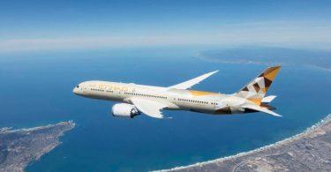 Etihad lanza vuelos a Málaga, España con el jet Boeing 787-9