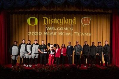 Disneyland Resort hosts Rose Bowl Game-bound teams