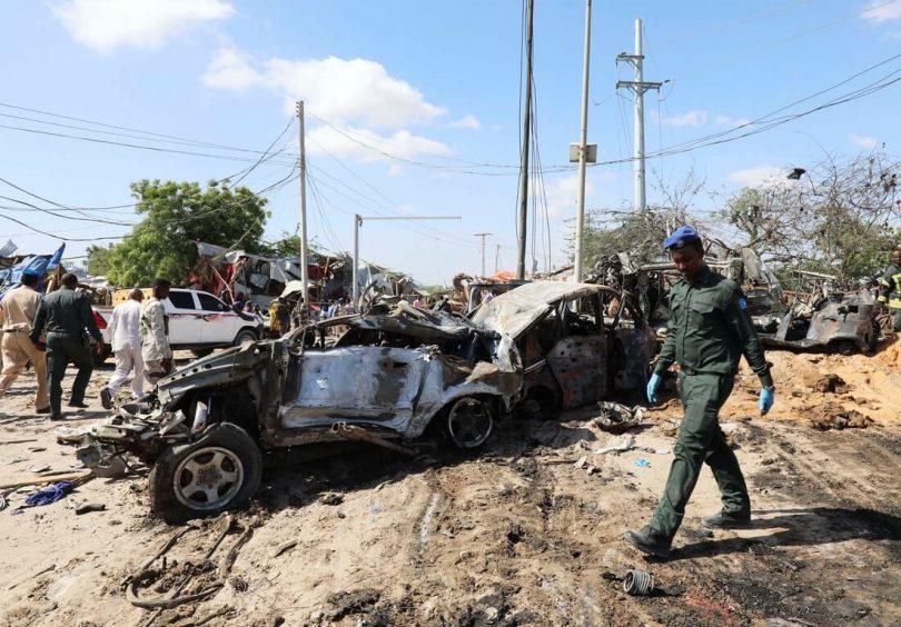 モガディシュのテロ攻撃で70人以上が死亡