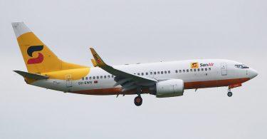Авіякампанія Sonair Анголы спыняе палёты на Boeing 737-700-х