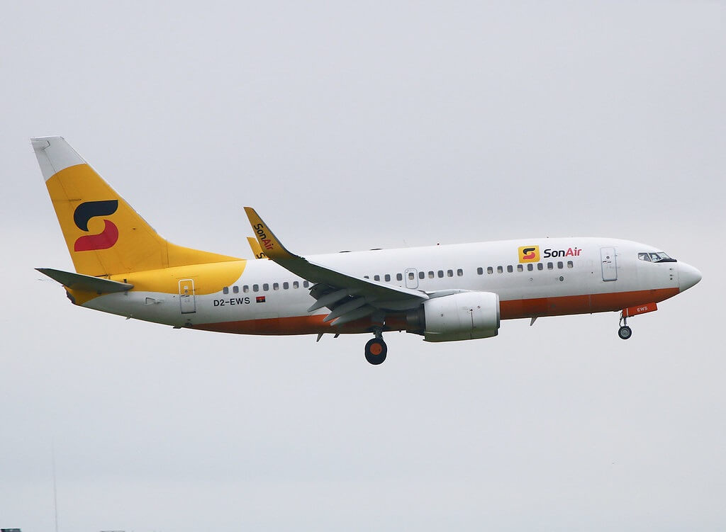 Angola's Sonair airline stops flying Boeing 737-700s