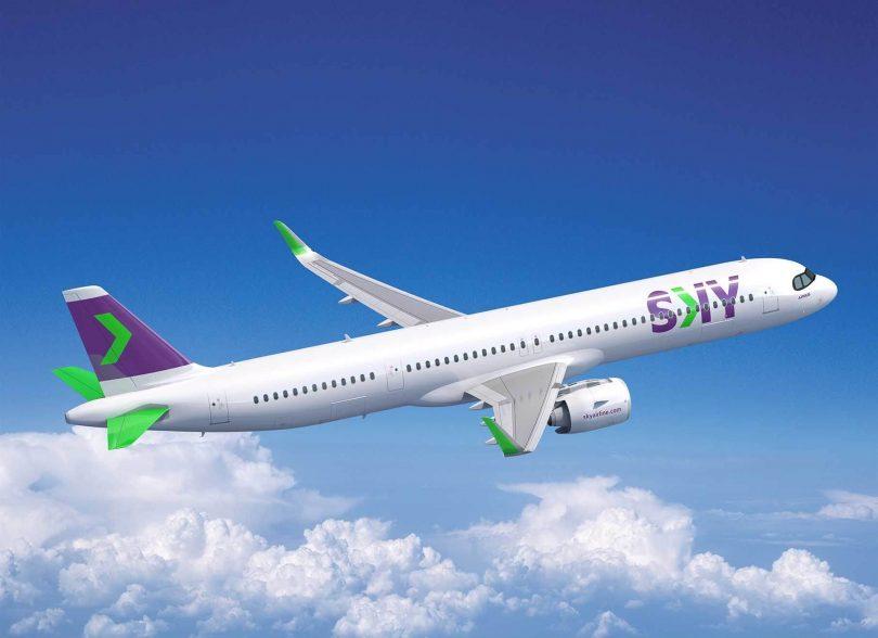 Chilská ultra nízkonákladová letecká společnost SKY objednává 10 trysek Airbus A321XLR