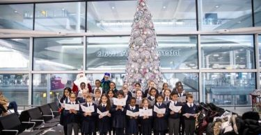 Heathrow Primary students unwrap Christmas at the airport