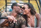 Pár supermodel Afiya Bennett a Lloyd Dickenson na romantických líbánkách v Antiguě a Barbudě