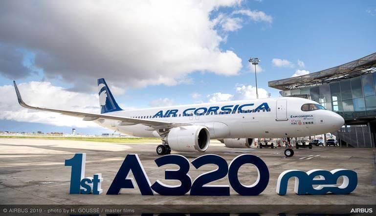 Air Corsica recibió el Airbus A320 Neo arrendado