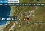 Colombia ramt af 6.0 jordskælv