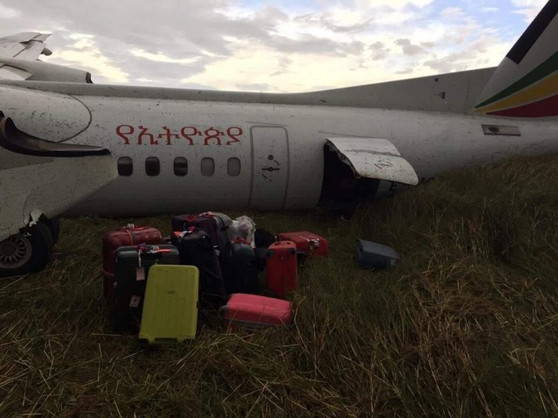 خطوط هوایی اتیوپی سقوط کرد و هیچ گزارشی از مصدومیت گزارش نشده است