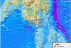 Philippine Island Mindanao rystet av et kraftig jordskjelv