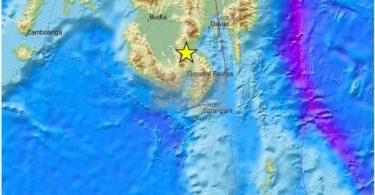 جزیره فیلیپین میندانائو در اثر زمین لرزه ای شدید لرزید