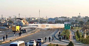 Avión de Caspian Air con 130 a bordo aterriza en Irán
