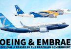 Η κυβέρνηση της Βραζιλίας εγκρίνει τη συμφωνία Boeing και Embraer