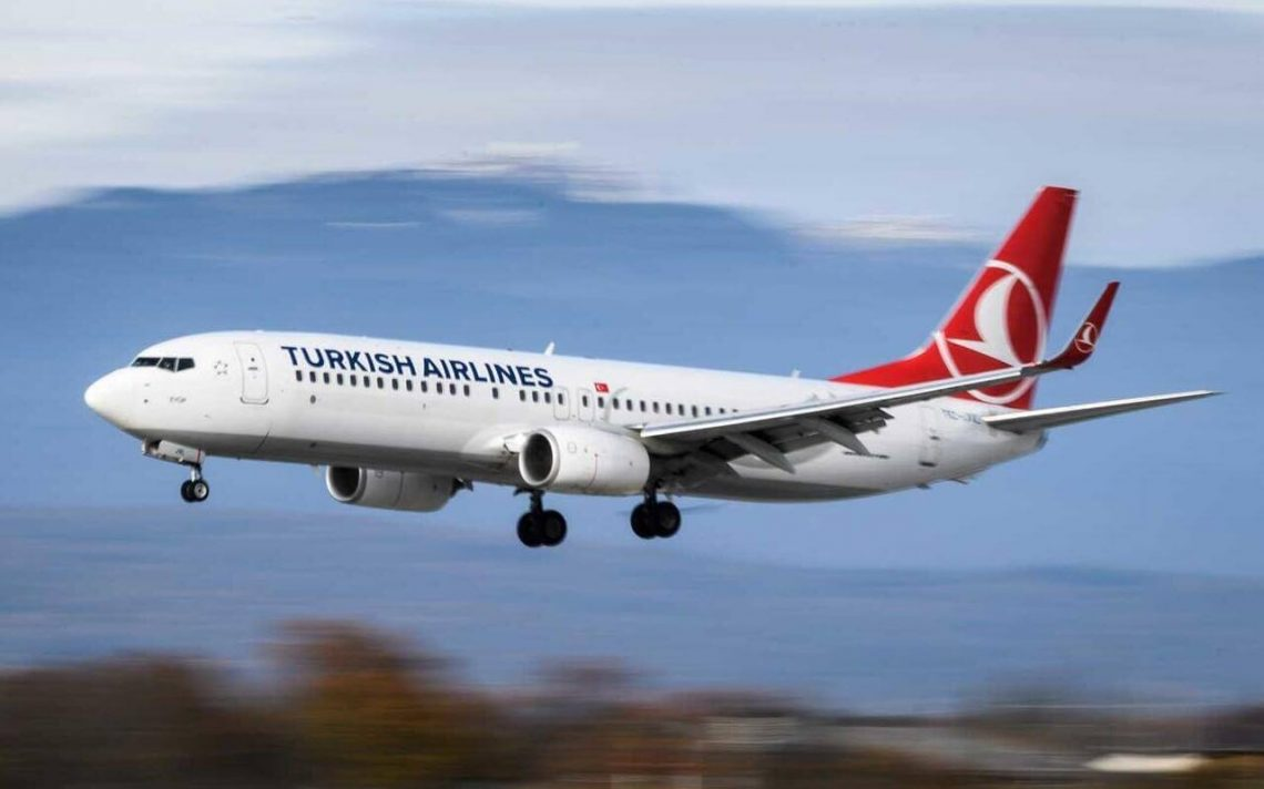 Turkish Airlines cancela todos os voos da China