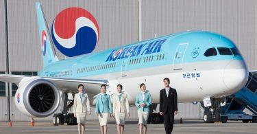 Společnost Korean Air přistává na letišti v Budapešti