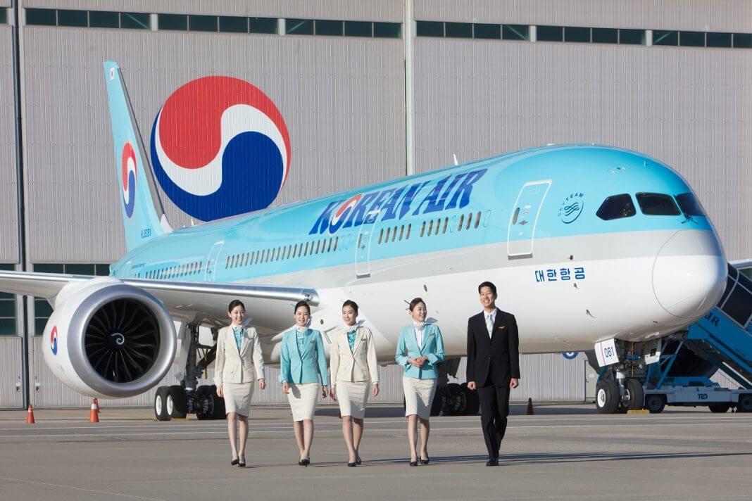 Korean Air atterra all'aeroporto di Budapest