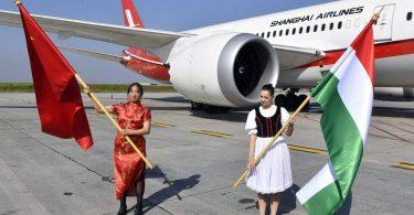 شرکت هواپیمایی شانگهای پروازهای روزانه خود را از بوداپست به شانگهای آغاز می کند